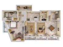 Prime Minister Suite - Top Down View